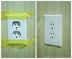 How to make an outlet flush with the wall -- great to know when installing wood planks, beadboard or tile. #DIY