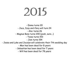 The Mortal Instruments and The Infernal Devices in 2015