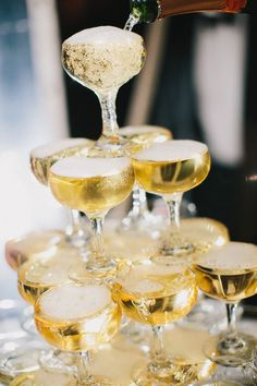 How to build a Champagne Tower in 5 Simple Steps. ..by Steve the Bartender, Adelaide