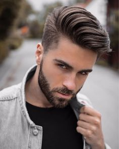 Cool hairstyles for men, Pompadour hairstyle, Mens hairstyles Comb over haircut, Thick hair styles, Mens hairstyles pompadour - 13 Men's Hair Trends That Aren't The Fade Hairstyles & Haircuts f - Mens Hairstyles Pompadour, Mens Hairstyles 2018, Side Part Hairstyles, Cool Hairstyles For Men, Undercut Hairstyles, Hairstyles Haircuts, Hairstyle Ideas, Men Undercut, Hairstyle Men