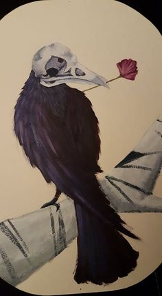 some painting i did at an art school. Art School, Raven, Death, Deviantart, Bird, Painting, Animals, Animales, Animaux