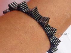 triangle bugle stack bracelet