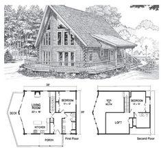 House Tiny Plans With Loft Open Floor Ideas Hammond Lumber Company Maine Pine Log Homes