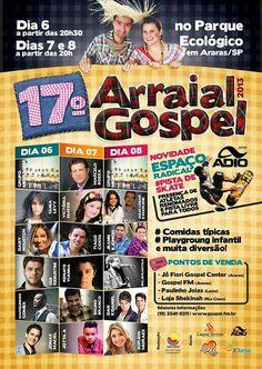 Arraial Gospel dia 06 de Julho 2013 Tania Levy estará louvando nesta linda festa