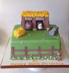 Horses Stable Themed Birthday Cake