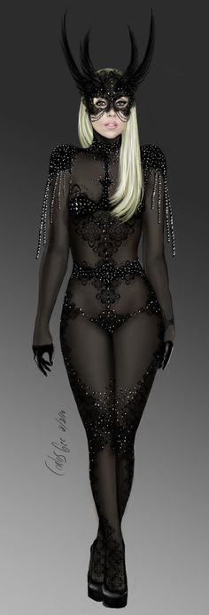 lady gaga:black demon costume by carlos0003.deviantart.com on @deviantART