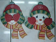 peek a boo snowman ornament