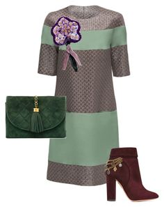 """теплая слива"" by helgabeads on Polyvore featuring мода, Lattori, Chanel и Aquazzura"