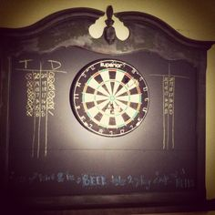 Our Homemade Dart Board! I Love It!