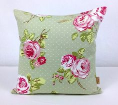 This is for one 16 inch x 16 inch English Rose grey with white polka dots double sided cushion cover. This cushion cover comes in a English Rose dotty fabric on both sides of the cushion cover. With an invisible zip which is at the bottom of the cushio. Shabby Chic Throw Pillows, Old Pillows, Grey Throw Pillows, Floral Pillows, Floral Fabric, Cotton Fabric, 20x20 Pillow Covers, Throw Pillow Cases, Cushion Covers