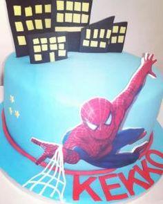 Torta di compleanno Spiderman creata da Dadacake