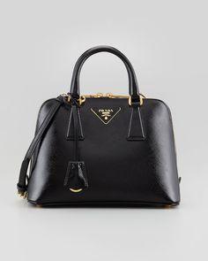 Emmy DE * Prada Saffiano Vernice Promenade Crossbody Bag