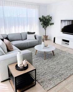 Minimalist Living Room Furniture, Living Room Grey, Cozy Living, Barn Living, Modern Minimalist Living Room, Minimalist Decor, Minimalist Style, Country Living, Minimalist Room Design