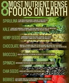 8 most nutritious dense food on earth