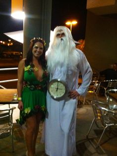 Mother nature and father time costume!