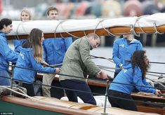 Prince William fully embraced the day's activities, and was seen using all his might to ho...