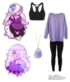 Steven Universe: Amethyst by stop-being-kawaii on Polyvore featuring adidas, Vans and Argento Vivo