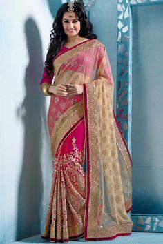 #Indian Designer #Bridal #Saree In Net Fabric.
