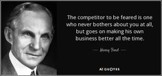 Image result for the competitor to be feared quote
