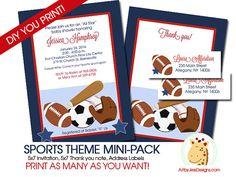 Sports Theme Boy Baby Shower Invitation Mini by AllPetsCherished, $16.00