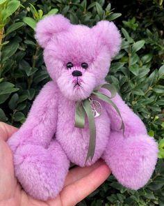 Orson by Naomi Wivell - Chelsea Graham Flying Lemur, Soft Purple, Pink, Button Eyes, Swing Tags, Orangutan, Green Silk, Chinchilla, Rose