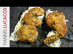 Κεφτέδες λαχανικών | Yiannis Lucacos - YouTube Tandoori Chicken, Food And Drink, Vegetarian, Healthy Recipes, Snacks, Meat, Vegetables, Ethnic Recipes, Youtube