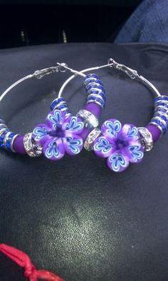 Flower bead earrings!!!