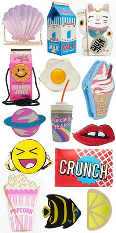 Cute iconic purses by skinnydip London My Bags, Purses And Bags, Fashion Bags, Fashion Accessories, Nerd Fashion, Skinnydip London, Novelty Bags, Girly, Cute Purses