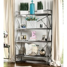 $300 - the champagne is perfect!!! Metal Media/Bookshelves: Organize your living room with modern bookshelves