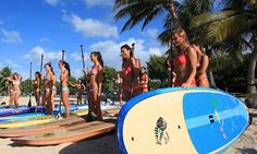 Miss Hawaii Contestants Standup Paddle - SUP Magazine