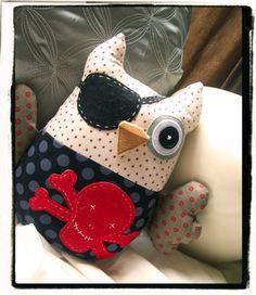 Pirate Owl Plushie, cute