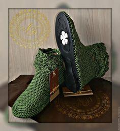 Обувь ручной работы. Заказать Ботильоны Softness - Олива... 'Ботильон'  Авторская вязаная обувь. Ярмарка Мастеров. Полусапожки, обувь вязаная