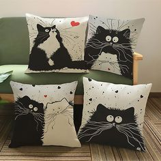 Cartoon Cat Lovers Cushions