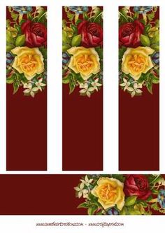 Vintage Roses Bookmarks on Craftsuprint designed by Russ Smith - An ideal present, bookmarks featuring images of beautiful Victorian flowers. Print onto heavy cardstock for best results, or mount onto gold mirror board. Suitable for all occasions. - Now available for download!
