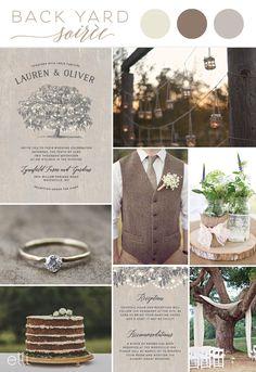 Back Yard Soiree Wedding Theme Inspiration