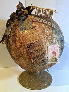 Scrappin Madge - altered globe