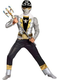 Boys Silver Ranger Muscle Costume - Power Rangers Super Megaforce - Party City