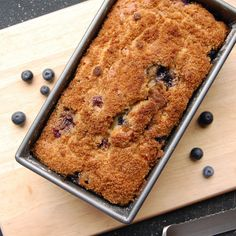 Crumb-Topped Blueberry Zucchini Bread | I can't believe this zucchini bread recipe is gluten free!