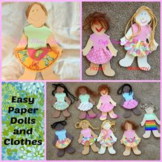 Crafty Moms Share: Easy Paper Doll Clothes and Creations