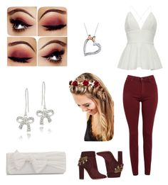 """Put a bow on it!"" by solieldawnmarie on Polyvore featuring AG Adriano Goldschmied, Aquazzura, J. Furmani, Johnny Loves Rosie, Disney and DB Designs"