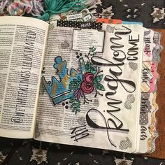 Bible Journaling by Kaylee King @wethreekingsillustrated | Matthew 6:9-13