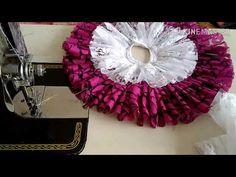 Crochet Flower Tutorial, Crochet Flowers, Fabric Flowers, Karwa Chauth Gift, Handmade Rakhi Designs, Silk Kurti Designs, Kids Indian Wear, Laddu Gopal Dresses, Ganapati Decoration
