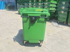 High-quality trash can big size wheeled outdoor dustbin plastic waste bin Garbage Containers, Waste Container, Kitchen Waste, Trash Bins, Qingdao, Plastic Waste, Recycling Bins, Canning, Outdoor