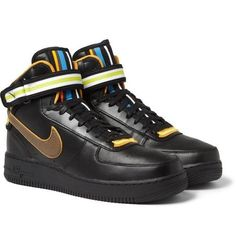 save off 8ed2b 53fc4 Nike Air Force 1 Riccardo Tisci Nike R.T. Air Middle Boots Rihanna Style  Black Shoes -