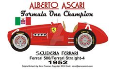 1952 Champion Alberto Ascari by on DeviantArt Formula One Champions, Champions L, Ferrari F1, Formula 1, Sport Cars, Race Cars, Blueprint Drawing, Nigel Mansell, Alain Prost
