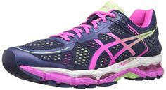 ASICS Women's Gel Kayano 22 Running Shoe, Indigo Blue/Pink Glow/Pistachio, 6.5 D US - http://www.exercisejoy.com/asics-womens-gel-kayano-22-running-shoe-indigo-bluepink-glowpistachio-6-5-d-us/fitness/