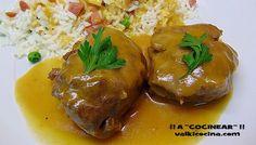 Carrilleras de cerdo en salsa ( olla rápida )