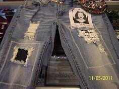 Crochet Lace Patch Jeans
