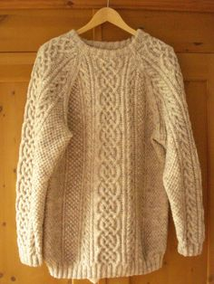 Handmade Aran sweater....wish my Nan would have taught me how to knit :(