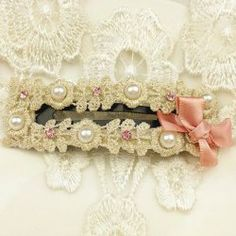 $1.64 Sweet Style Bowknot and Faux Pearl Embellished Hairpin For Women